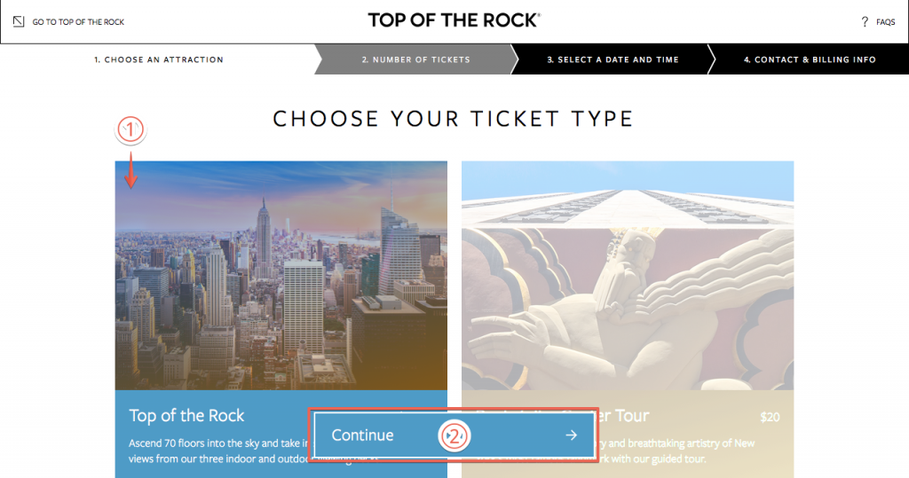 トップ・オブ・ザ・ロックのチケット購入方法2