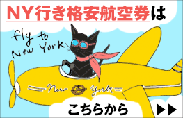 ニューヨーク行き特別格安航空券