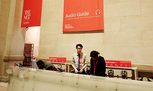 メトロポリタン美術館の音声ガイドカウンター
