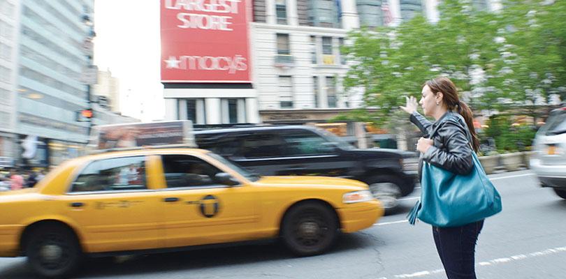 本場ニューヨークなのに!イエローではなく、グリーンキャブ!?