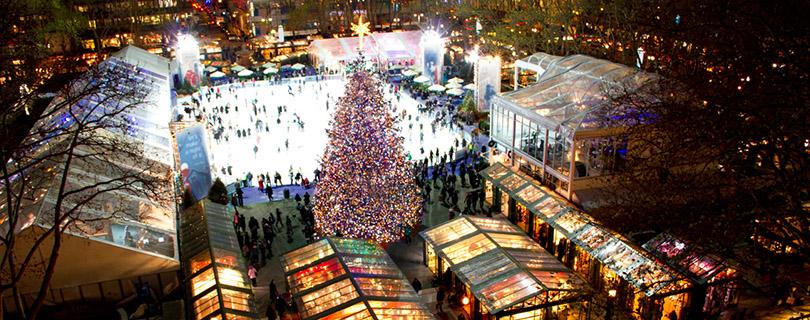 Bryant Parkのクリスマスツリー点灯式はいかが?