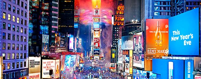 NYタイムズスクエアのカウントダウンへ行こう!
