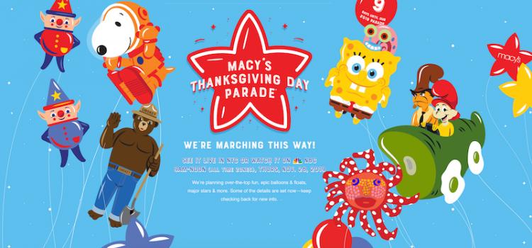 11月28日はサンクスギビングデイ!Macy'sパレードについて